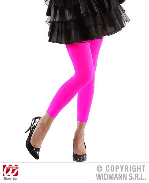 Ladies Womens Pink Leggings 1980S 1990S Fame Fancy Dress Accessory