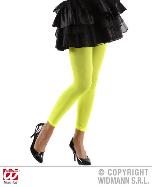 Ladies Womens Green Leggings 1980S 1990S Fame Fancy Dress Accessory