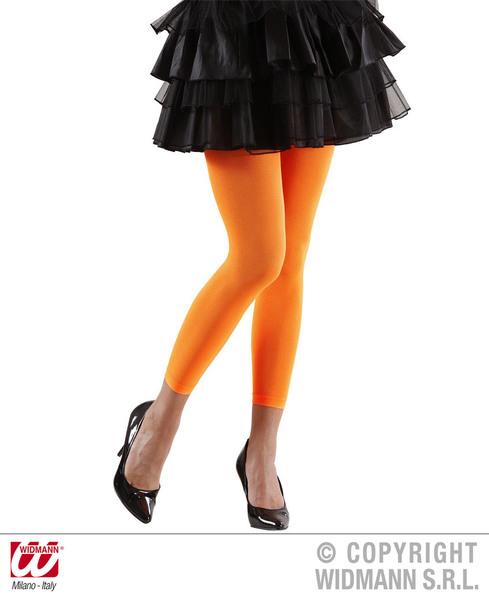 Ladies Womens Orange Leggings 1980S 1990S Fame Fancy Dress Accessory