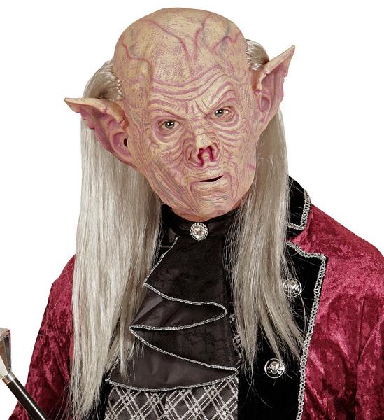 Vampire Mask With Hair Evil Dracular Goblin Halloween Fancy Dress Accessory