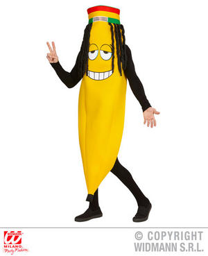 Banana Rastafarian Fancy Dress Costume Rasta Jamaica Stag Do Outfit
