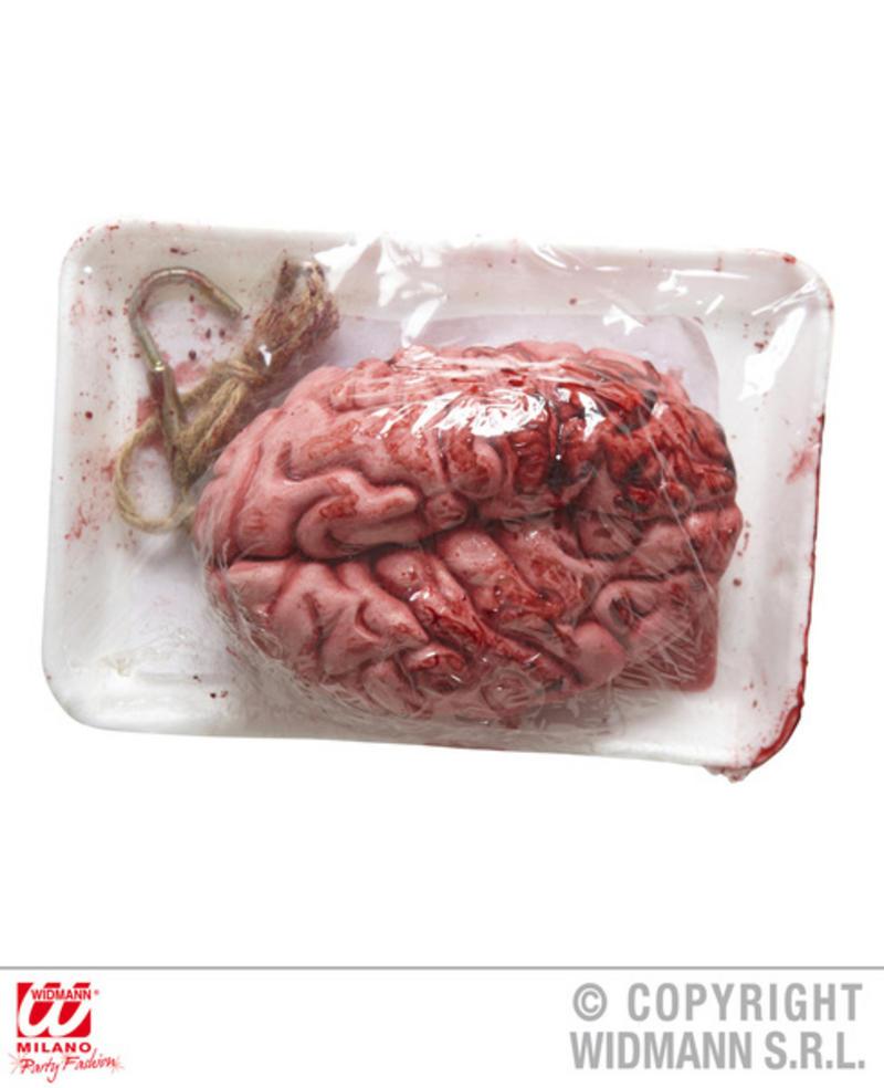 Fake Packaged Bloody Brain Body Part Halloween Fancy Dress Accessory Prop