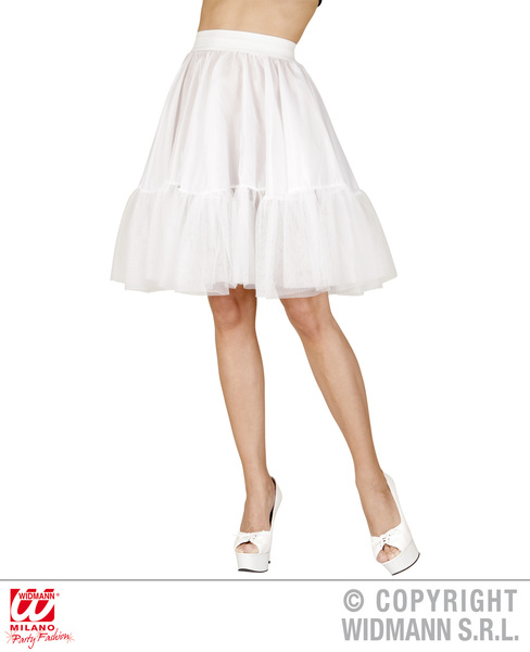 Ladies Womens White Petticoat Underskirt Fancy Dress Accessory