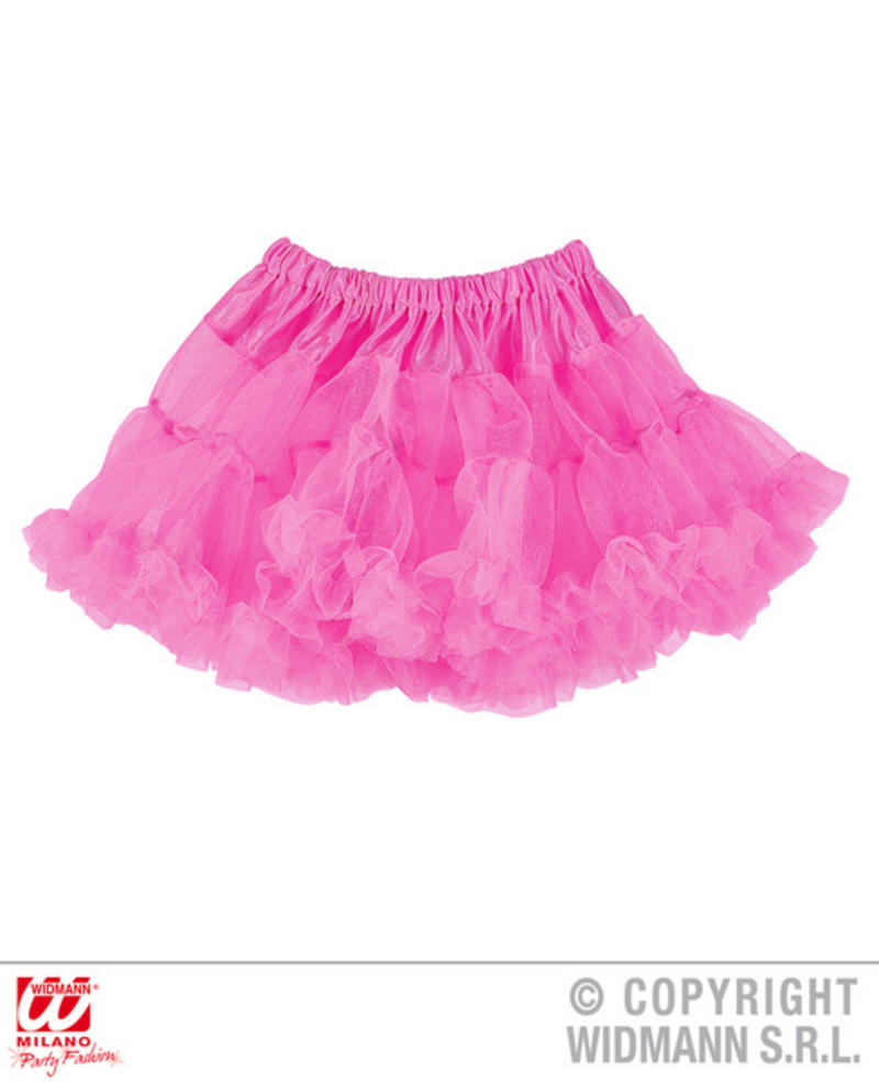 2f2eb01d1b Ladies Womens Neon Pink Tutu Skirt 80S Party Fancy Dress Accessory ...