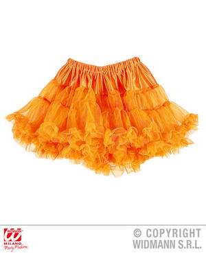 Ladies Womens Neon Orange Tutu Skirt 80S Party Fancy Dress Accessory
