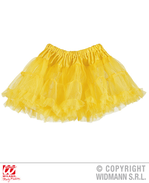 Ladies Womens Neon Yellow Tutu Skirt 80S Party Fancy Dress Accessory