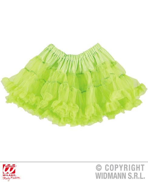 Ladies Womens Neon Green Tutu Skirt 80S Party Fancy Dress Accessory