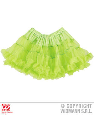 Ladies Womens Neon Green Tutu Skirt 80S Party Fancy Dress Accessory