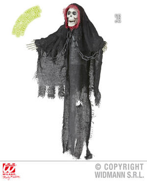 Animated Shaking Grim Reaper Decoration Halloween Fancy Dress Party Prop 20cm