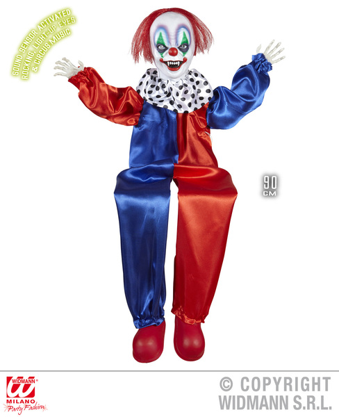 Animated Rocking Killer Clown Decoration Halloween Fancy Dress Party Prop 90Cm