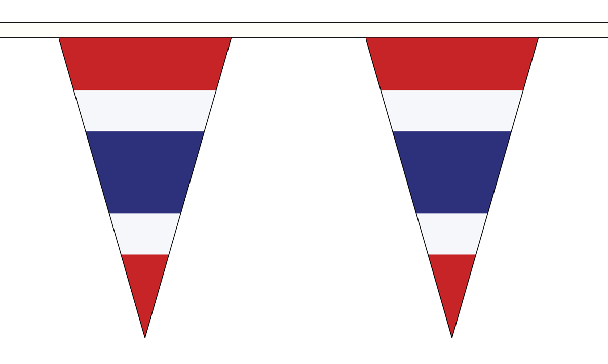 10 Flags Thailand Small Bunting 3m
