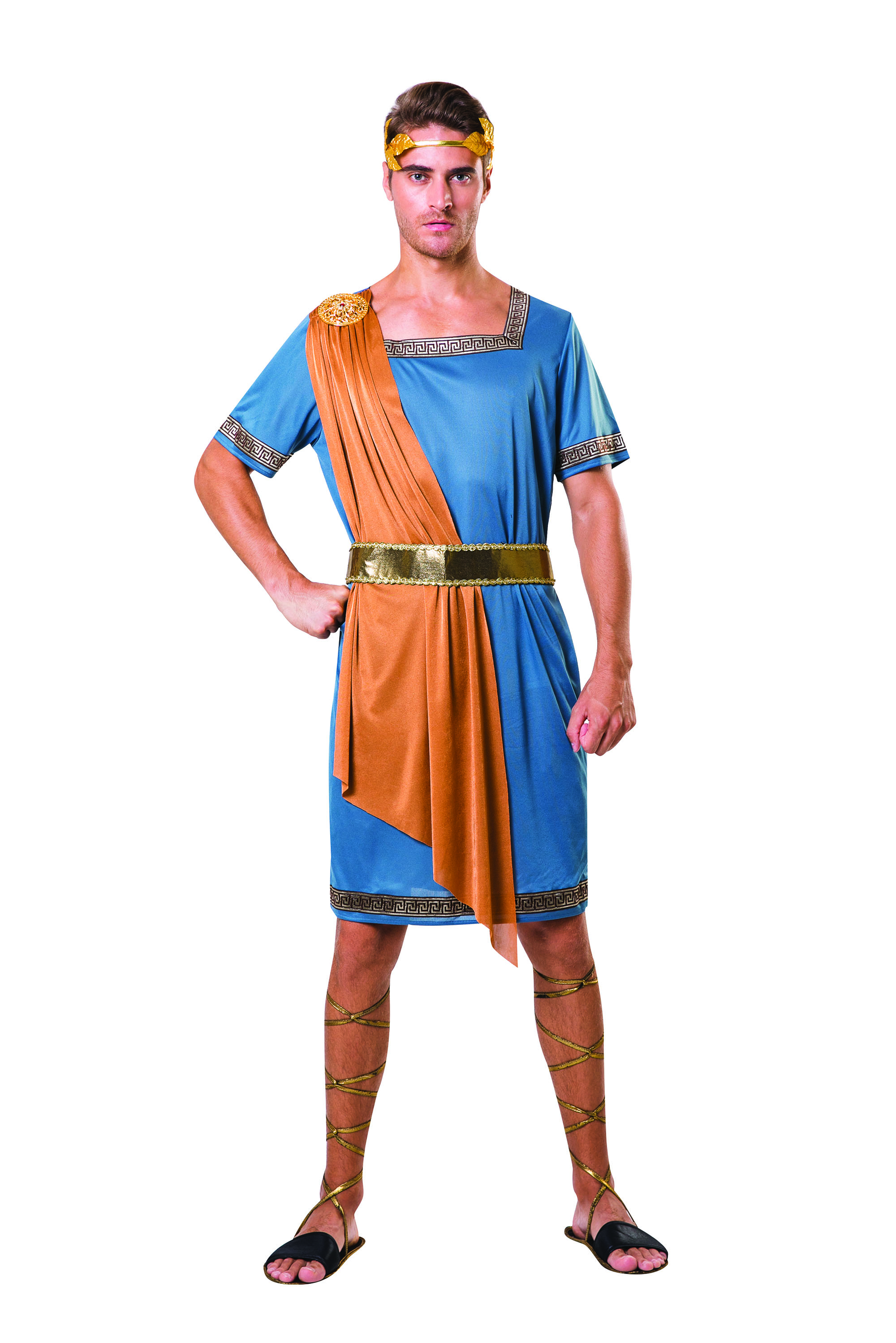 865f99091 Details about Mens Greek Emperor Toga Fancy Dress Costume Outfit Roman  Empire Party