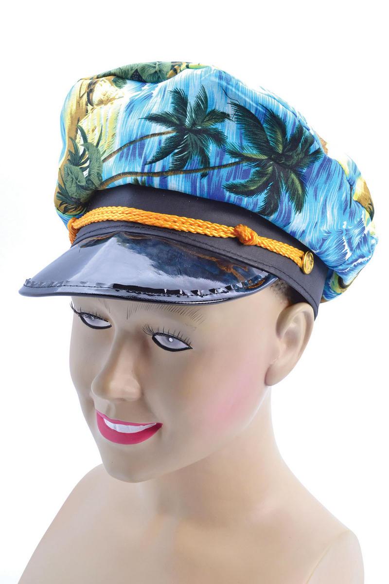 Hawaiian Sea Captain Yacht Hat Cap - Summer Holiday Tropical Fancy Dress Prop