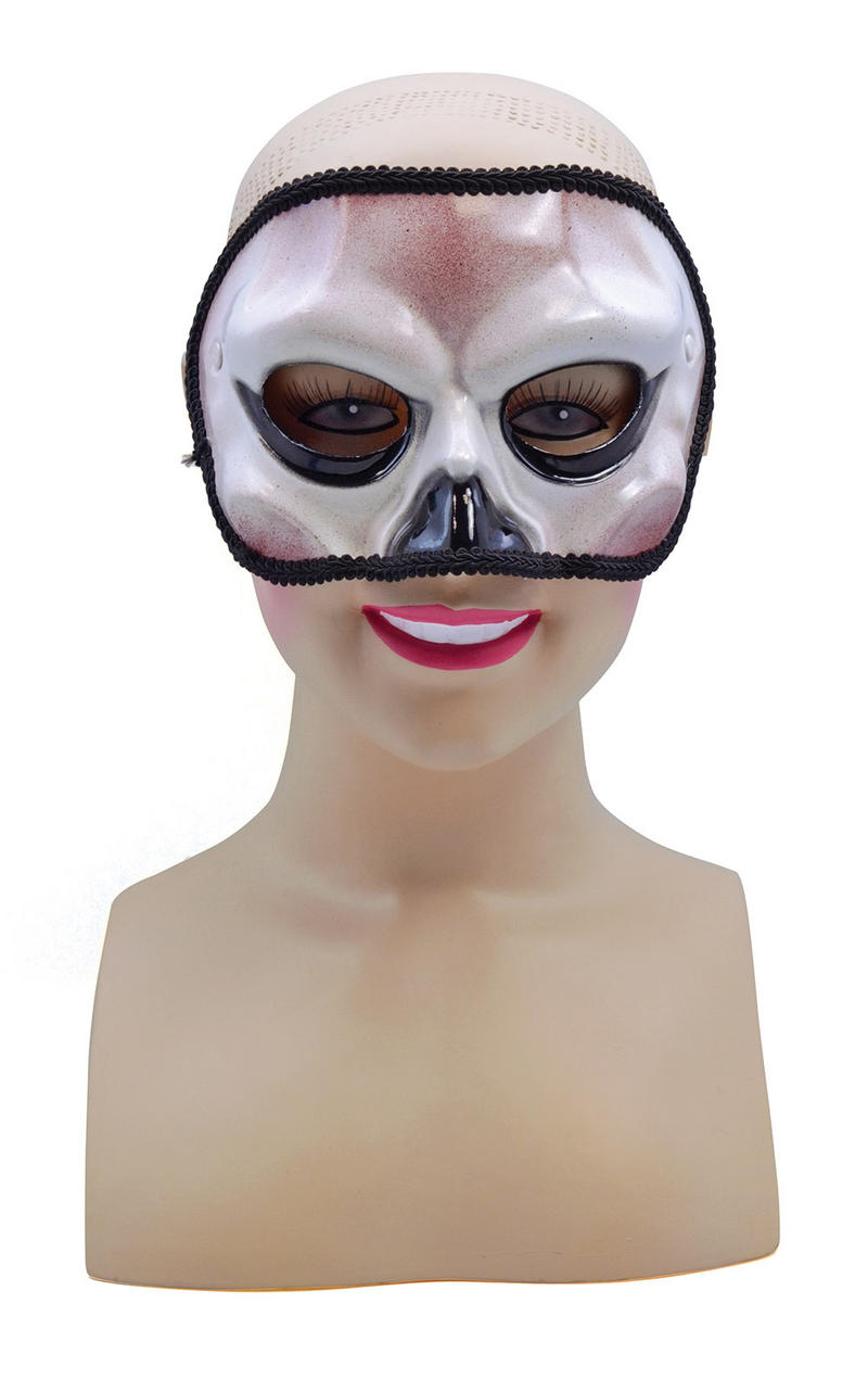 White Skull Skeleton Masquerade Ball Party Mask Halloween Skeletor Fancy Dress