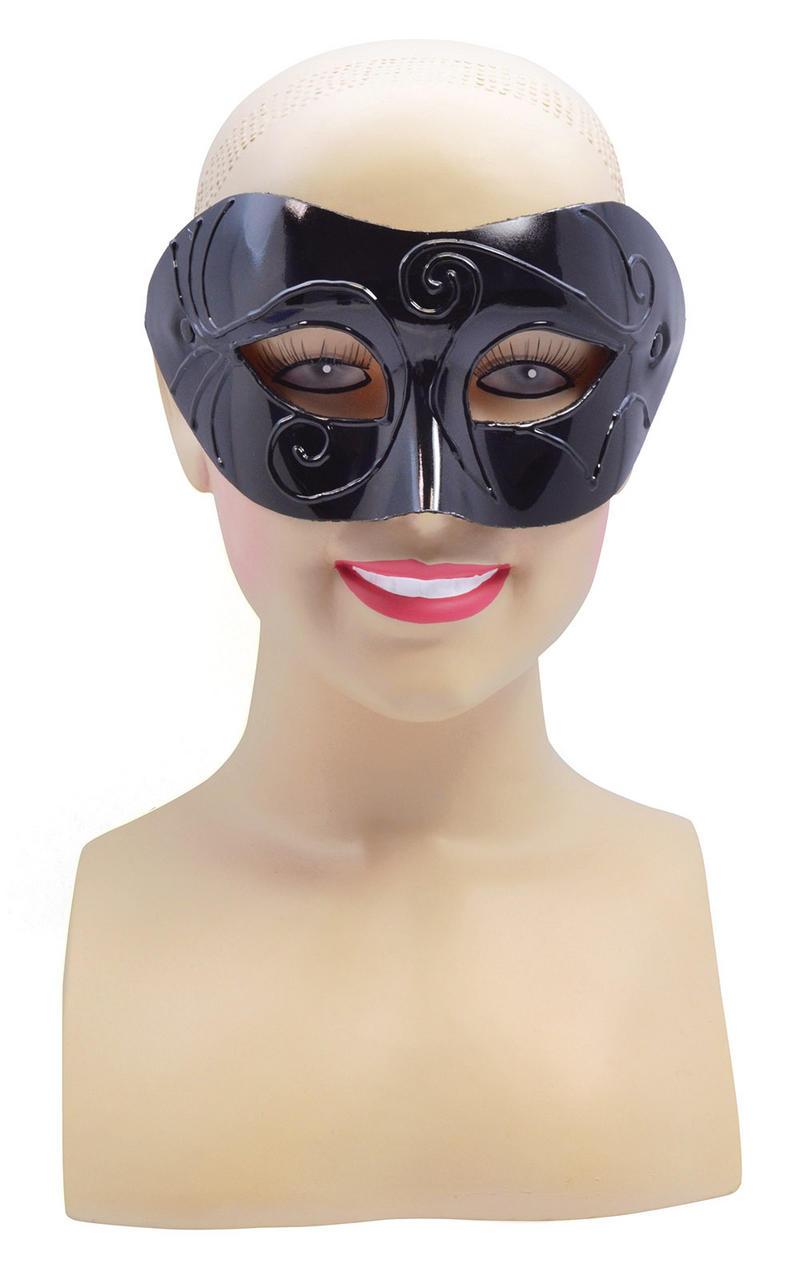 Male Black Half Face Eye Masquerade Ball Mask Halloween Highwayman Fancy Dress