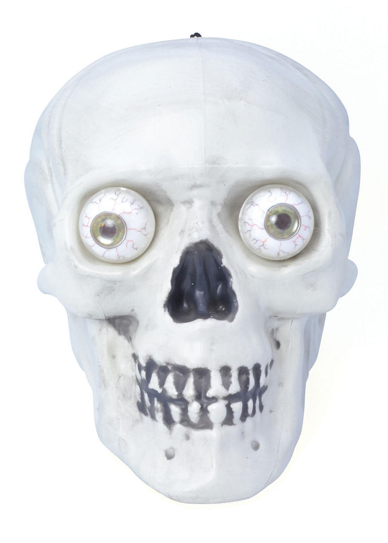 Skull Hanging Skeleton  with Light Up Eyes Halloween Prop Fancy Dress Accessory