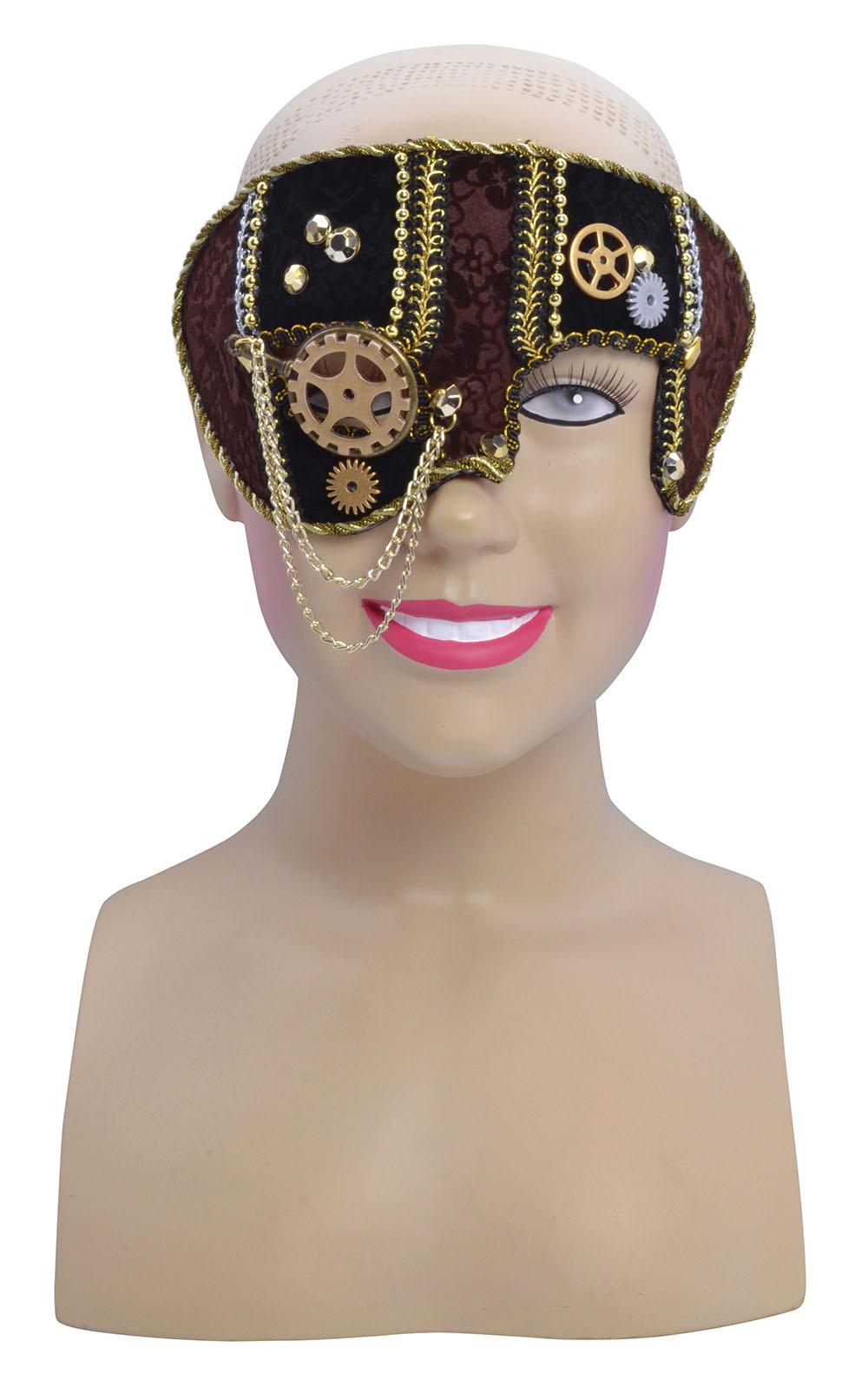 Men Male Steampunk Face Mask Masquerade Ball Party Halloween Fancy Dress