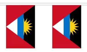 "Antigua & Barbuda Bunting 3m Metre Length With 10 Flags 9""x6"" 100% Caribbean"