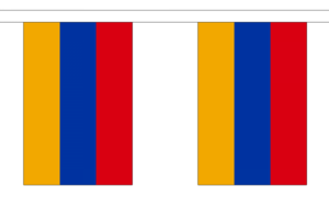 "Armenia Bunting 3m Metre Length With 10 Flags 9""x6"" 100% Woven Polyester"
