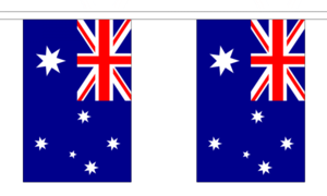 """Australia Bunting 3m Metre Length With 10 Flags 9""""x6"""" 100% Woven Polyester"""