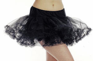 Ladies Black Multi Layer Tutu Skirt Fancy Dress Costume Ballerina Fairy Outfit