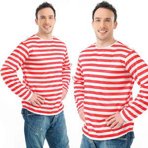 Adult Red & White Stripe Jumper Fancy Dress Costume Outfit