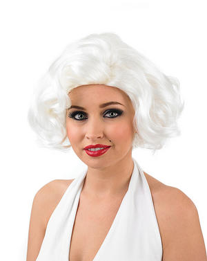 Adult 50S Film Star Wig Marilyn 50s Star Hollywood Actress Fancy Dress Accessory