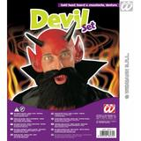 Demon Devil Fancy Dress Set Kit Halloween Accessories Facial Hair Etc