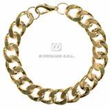 Gold Bracelet Hppie Hippy Pimp Gangster Fancy Dress Jewellery Accessory