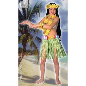 Ladies Hawaiian Grass Flower Skirt HUla Girl Beach Party Fancy Dress
