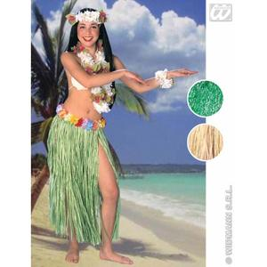 Ladies Hawaiian Grass Flower Skirt Hula Girl Beach Party Fancy Dress 78cm Long