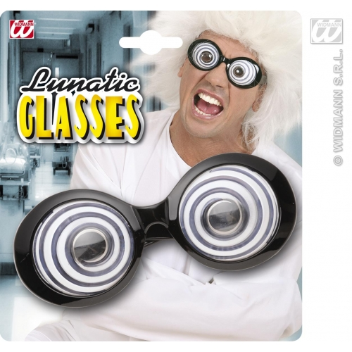 Mad Scientist Round Glasses Fancy Dress COstume Accessory Mad Man Einstein