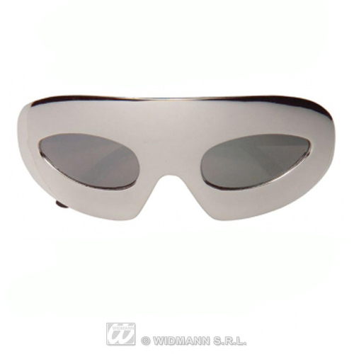 Unisex Silver Domino Glasses Sunglasses Dominatrix Pop Star Fancy Dress