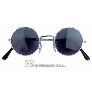 Black John Lennon Style Round Sunglasses Circualr Fancy Dress Hippy Glasses