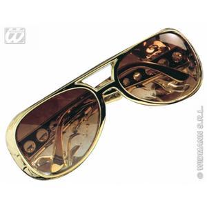 Elvis Presley Gold Sunglasses Glasses Rock N Roll Fancy Dress Prop