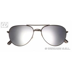 Aviator Sunglasses With Mirror Lenses Policeman Police Fancy Dress