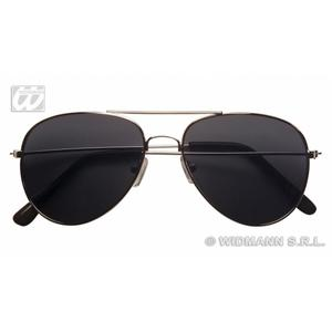 Aviator Pilot Sunglasses Glasses With Smoke Lenses - Fancy Dress Costume