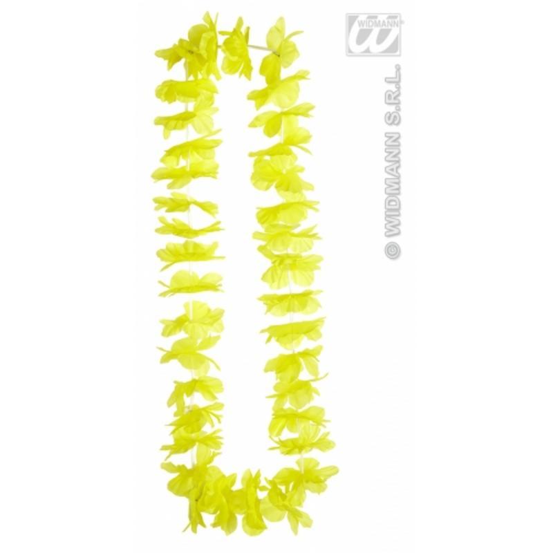 Yellow Hawaiian Leis Garland Necklace Hula Girl Fancy Dress Costume Beach Party