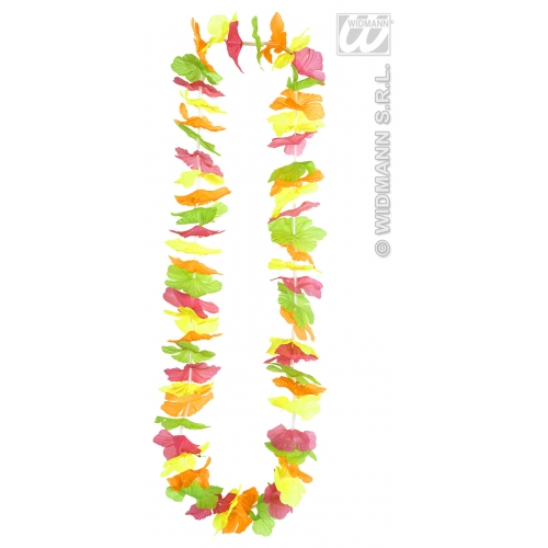 Rainbow Hawaiian Leis Garland Necklace Beach Party Hua Girl Fancy Dress Prop