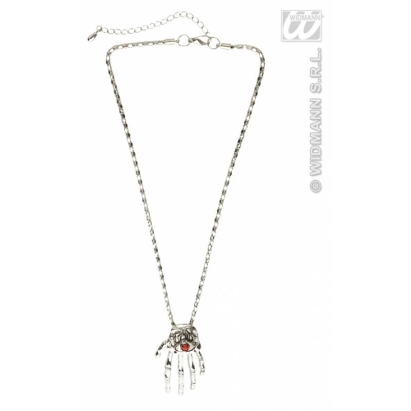 Skeleton Hand Necklace Halloween Costume Jewellery Fancy Dress Prop Skull