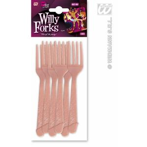 Willy Penis Cock Set Of 6 Forks Cuttlery Set Hen Night Party