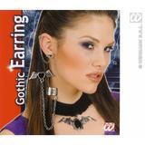 Goth Punk Black Heart Earrings With Wings Halloween Emo Fancy Dress