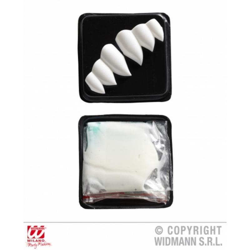 Vampire Dracula Fag Teeth Kit Set Halloween Fancy Dress Accessory