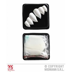 Vampire Dracula Fag Teeth Kit Set Halloween Fancy Dress Accessory