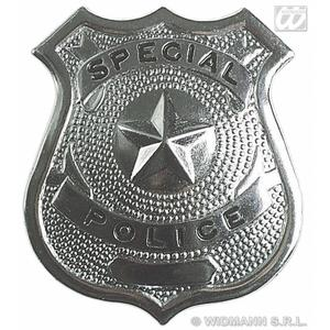 Silver Police Badge Copper Policeman Fancy Dress Costume Prop