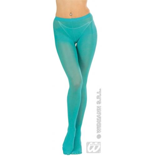 Ladies Turquoise Blue Tights Disco Diva Retro Woman Fancy Dress Accessory