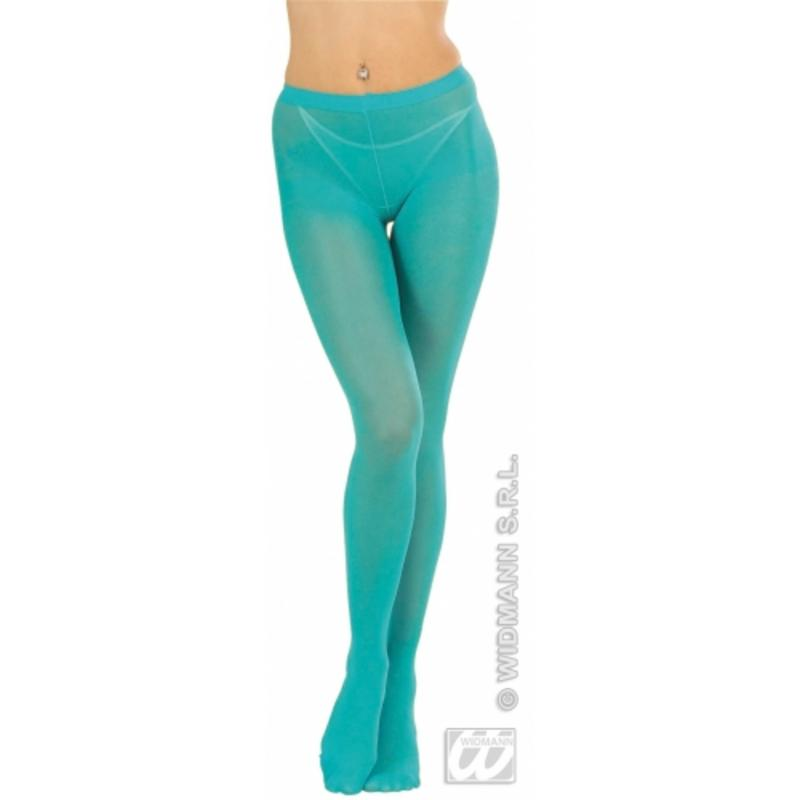 Ladies Turquoise Blue Tights Disco Diva Retro Woman Fancy Dress Accessory