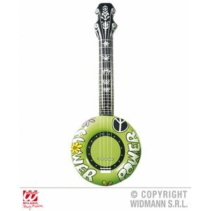 Green Inflatable Banjo Guitar Mandelin Prop - 100cm Long - Fancy Dress Prop
