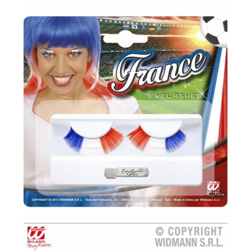 France Football Supporter French Eyelashes Fancy Dress & Glue
