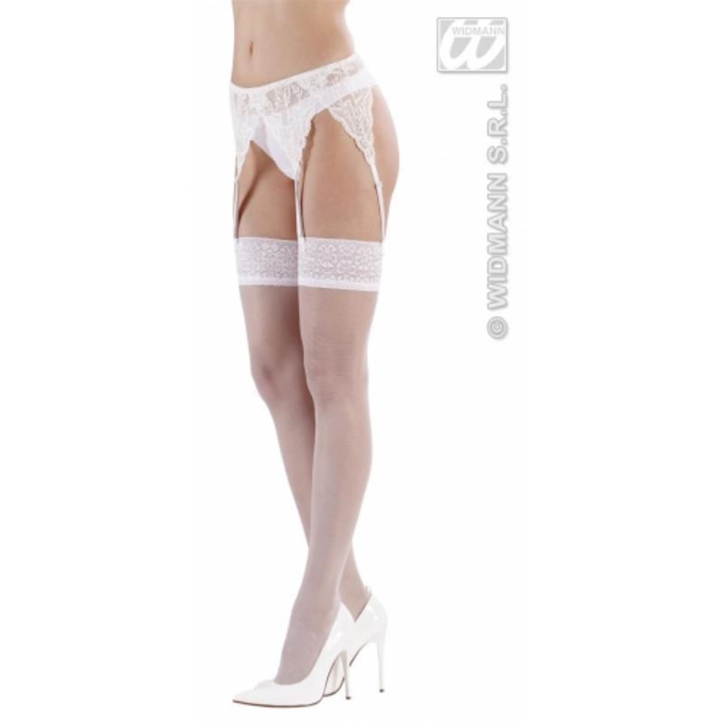 Ladies Sexy White Lace Garter Belt